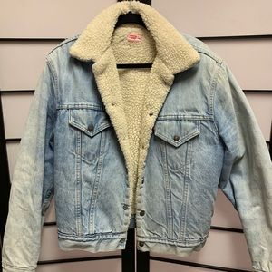 Vintage Levis Trucker Jacket Sherpa Lined